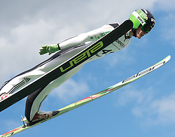 27.09.2015, Energie AG Skisprung Arena, Hinzenbach, AUT, FIS Ski Sprung, Sommer Grand Prix, Hinzenbach, im Bild Peter Prevc (SLO) // during FIS Ski Jumping Summer Grand Prix at the Energie AG Skisprung Arena, Hinzenbach, Austria on 2015/09/27. EXPA Pictures © 2015, PhotoCredit: EXPA/ Reinhard Eisenbauer