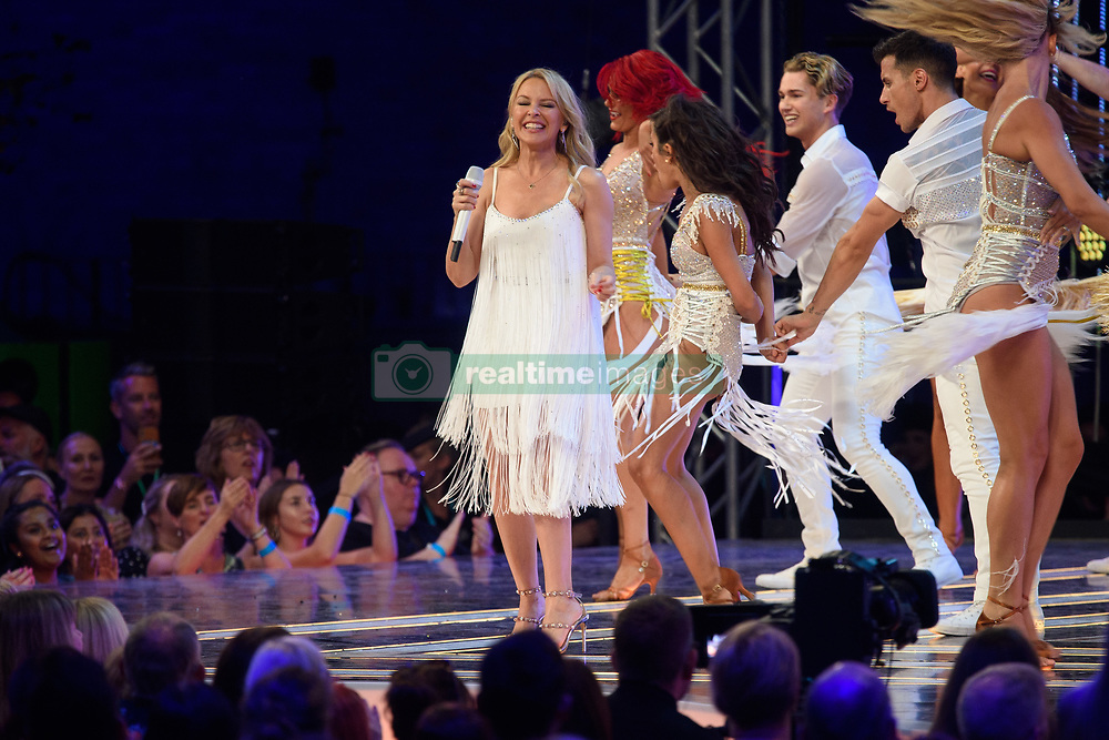 Kylie Minogue performs during the Strictly Come Dancing Launch at the TV Centre, London. Picture date: Monday August 26, 2019. Photo credit should read: Matt Crossick/Empics
