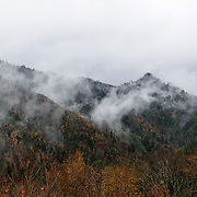 Cloudy mountain tops, Great Smoky Mountains National Park, Tennessee