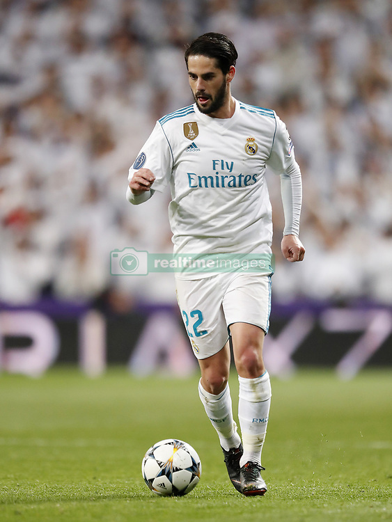 Isco of Real Madrid during the UEFA Champions League quarter final match between Real Madrid and Juventus FC at the Santiago Bernabeu stadium on April 11, 2018 in Madrid, Spain