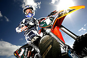 08/11/07 SW. New Zealand's top motorx rider in the 15-16 age-group, Henry Madams, 16, is riding high these days. Photo: Crispin Anderlini