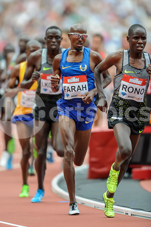 Mo Farah (GBR) during the London Muller Anniversary Games at Queen Elizabeth Olympic Park, London, United Kingdom on 23 July 2016. Photo by Salvio Calabrese.