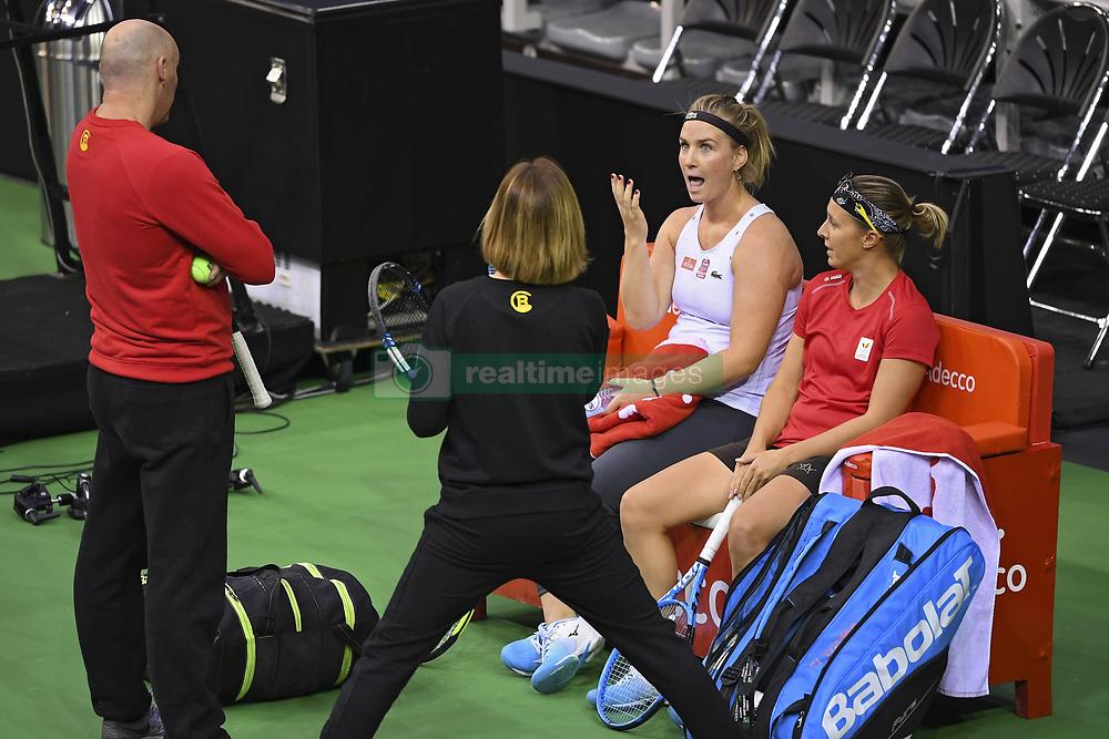 February 8, 2019 - Liege, France - Johan VAN HERCK captain of Belgium, Ysaline BONAVENTURE, Kirsten FLIPKENS (Credit Image: © Panoramic via ZUMA Press)