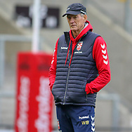 Coach Wayne Bennett during the RFL England Captain's Run at Leigh Sports Village, Leigh<br /> Picture by Steve McCormick/Focus Images Ltd 07545 862647<br /> 16/10/2018