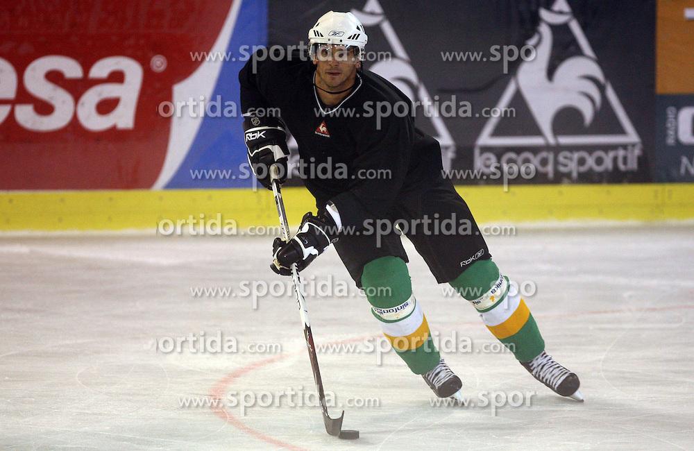 Jurij Golicic at second ice hockey practice of HDD Tilia Olimpija on ice in the new season 2008/2009, on August 19, 2008 in Hala Tivoli, Ljubljana, Slovenia. (Photo by Vid Ponikvar / Sportal Images)