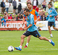 28.05.2012, Sportplatz Golm FC Schruns, Schruns, AUT, UEFA EURO 2012, Trainingslager, Spanien, im Bild Santi Cazorla (ESP) Santi Cazorla of Spain during of Spanish National Footballteam for preparation UEFA EURO 2012 at Sportplatz Golm FC Schruns, Schruns, Austria on 2012/05/28. EXPA Pictures © 2012, PhotoCredit: EXPA/ Peter Rinderer
