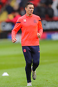 Blackburn Rovers midfielder Stewart Downing (19) warms up prior to the EFL Sky Bet Championship match between Charlton Athletic and Blackburn Rovers at The Valley, London, England on 15 February 2020.