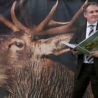 Scottish Game Fair, Scone Palace...4.7.2008.<br /> Cabinet Secretary for Rural Affairs Richard Lochhead at the launch of the Best Practice Guidance for Wild Deer Management which took place at the Game Fair on Friday.<br /> <br /> Picture by John Lindsay<br /> COPYRIGHT: Perthshire Picture Agency.<br /> Tel. 01738 623350 / 07775 852112.