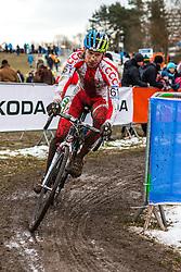 Mariusz Gil (POL), Men Elite, Cyclo-cross World Championship Tabor, Czech Republic, 1 February 2015, Photo by Pim Nijland / PelotonPhotos.com