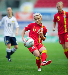LLANELLI, WALES - Saturday, September 15, 2012: Wales' captain Jessica Fishlock in action against Scotland during the UEFA Women's Euro 2013 Qualifying Group 4 match at Parc y Scarlets. (Pic by David Rawcliffe/Propaganda)