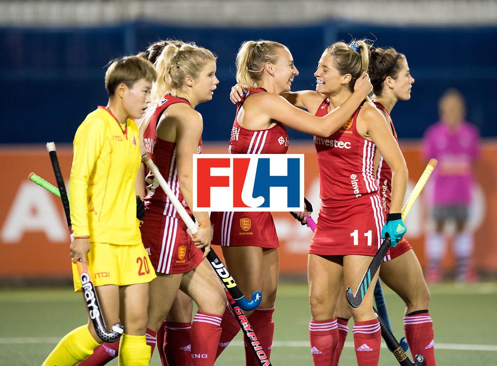 AUCKLAND - Sentinel Hockey World League final women<br /> Match id 10302<br /> ENG v China<br /> Foto:  celebration with Hannah Martin (l) and Suzy Petty <br /> WORLDSPORTPICS COPYRIGHT FRANK UIJLENBROEK