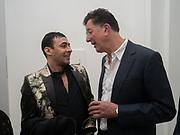 RAQIB SHAW; SIR ANTONY GORMLEY, Opening of Galerie Thaddaeus Ropac London, Ely House, 37 Dover Street.. Mayfair. London. 26 April 2017.
