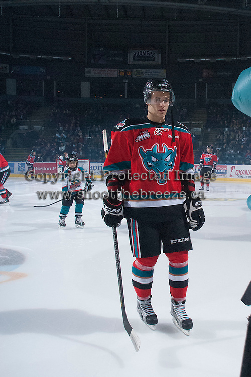 KELOWNA, CANADA - NOVEMBER 1:  Filip Vasko #10 of the Kelowna Rockets skates to the bench opposite the Kamloops Blazers at the Kelowna Rockets on November 1, 2012 at Prospera Place in Kelowna, British Columbia, Canada (Photo by Marissa Baecker/Shoot the Breeze) *** Local Caption ***