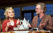 Hay Fever<br /> by Noel Coward<br /> at The Duke of York's Theatre, London, Great Britain <br /> press photocall <br /> 6th May 2015 <br /> <br /> Felicity Kendall as Judith Bliss<br /> <br /> Simon Shepherd as David Bliss <br /> <br /> <br /> <br /> Photograph by Elliott Franks <br /> Image licensed to Elliott Franks Photography Services