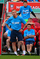 KEVIN WILKIN MANAGER  BRACKLEY TOWN, KEVIN WILKIN MANAGER  BRACKLEY TOWN, Buildbase FA Trophy Final Brackley Town v Bromley, Wembley Stadium Sunday 20th May 2018, Score 1-1 AET, Brackley won on Penalties.