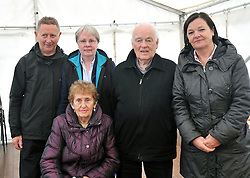Frank and Maura McCarrick, Fr Paddy Gill, Celena Hoban and Maura McGreal pictured after mass at the Murrisk pattern day on sunday last.<br /> Pic Conor McKeown