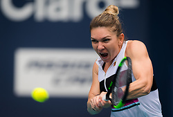 March 24, 2019 - Miami, FLORIDA, USA - Simona Halep of Romania in action during her third-round match at the 2019 Miami Open WTA Premier Mandatory tennis tournament (Credit Image: © AFP7 via ZUMA Wire)