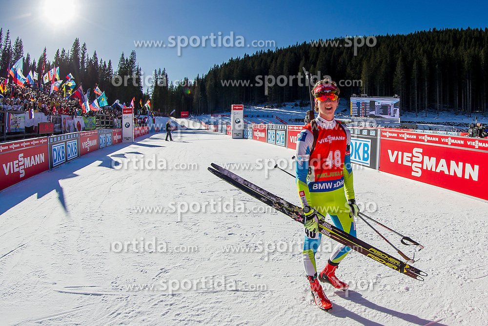 Miha Dovzan (SLO) competes during Men 12,5 km Pursuit at day 3 of IBU Biathlon World Cup 2015/16 Pokljuka, on December 19, 2015 in Rudno polje, Pokljuka, Slovenia. Photo by Urban Urbanc / Sportida