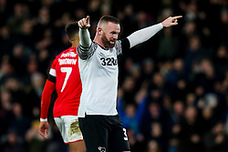 Wayne Rooney of Derby County celebrates after Martyn Waghorn of Derby County scores a goal to make it 2-1 - Mandatory by-line: Robbie Stephenson/JMP - 02/01/2020 - FOOTBALL - Pride Park Stadium - Derby, England - Derby County v Barnsley - Sky Bet Championship
