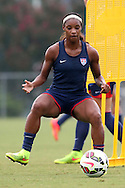 18 August 2014: Crystal Dunn. The United States Women's National Team held a training session on Field 4 at WakeMed Soccer Park in Cary, North Carolina.