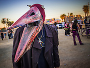 09 NOVEMBER 2013 - PHOENIX, AZ:   A man in costume at the 7th annual Phoenix Annual Parade of the Arts. The arts walk/parade started in 2006 and now draws hundreds of people in downtown Phoenix.    PHOTO BY JACK KURTZ