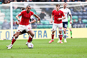 Charlton Athletic midfielder Darren Pratley (15) challenged by the opponent during the EFL Sky Bet Championship match between Preston North End and Charlton Athletic at Deepdale, Preston, England on 18 January 2020.