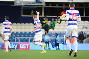Queens Park Rangers forward Conor Washington (9) giving thumbs up aftwer scoring 1-2 during the EFL Sky Bet Championship match between Queens Park Rangers and Burton Albion at the Loftus Road Stadium, London, England on 28 January 2017. Photo by Matthew Redman.