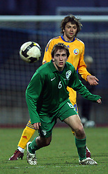 Nikola Tolimir (6)  of Slovenia during Friendly match between U-21 National teams of Slovenia and Romania, on February 11, 2009, in Nova Gorica, Slovenia. (Photo by Vid Ponikvar / Sportida)
