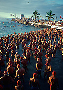 Ironman Triathlon start, Kailua-Kona, Island of Hawaii (editorial use only, no model release)<br />