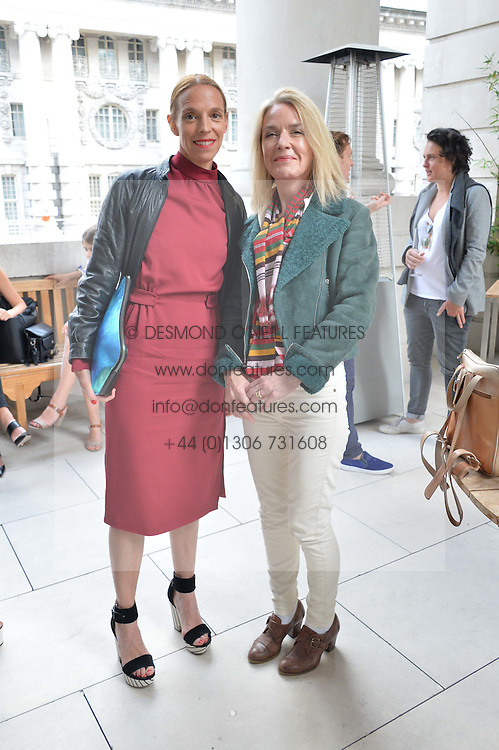 Left to right, TIPHAINE DE LUSSY and CATHARINE ALEN-BUCKLEY at the Vilshenko Mid-Summer Cocktail Party held at the Cafe Royal, 68 Regent Street, London on 20th June 2014.