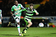 Forest Green Rovers Luke James(33) on the ball during the EFL Trophy 3rd round match between Yeovil Town and Forest Green Rovers at Huish Park, Yeovil, England on 9 January 2018. Photo by Shane Healey.