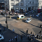 Day 6 Police clear up the XRExtinction  protestor in Oxford Street, London, UK