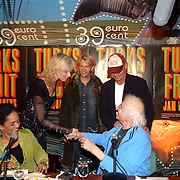 NLD/Muiderberg/20050915 - Perspresentatie Turks Fruit de Musical, Jan Wolkers, Anthonie kamerling, Sjoerd Pleijsier