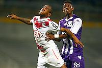 Diego Rolan / Jacques Francois Moubandje - 21.03.2015 - Toulouse / Bordeaux - 30eme journee de Ligue 1<br />Photo : Manuel Blondeau / Icon Sport