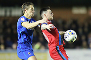Paul Robinson and Ian Henderson during the EFL Sky Bet League 1 match between AFC Wimbledon and Rochdale at the Cherry Red Records Stadium, Kingston, England on 28 March 2017. Photo by Daniel Youngs.