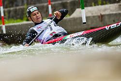 Bozic Luka during the Kayak Single (C1) Men race of Tacen Cup 2020 on May 24, 2020 in Tacen, Ljubljana, Slovenia. Photo By Grega Valancic / Sportida