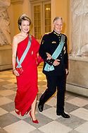 koning filip en koningin mathilde 26-5-2018 COPENHAGEN - King Philippe And Queen MATHILDE Galanight at the Crown Prince Frederik as he celebrates his 50th birthday during a Gala dinner at Christiansborg Castle in Copenhagen, Denmark, 26 May 2018. Crown Prince Frederik turns 50.  Copenhagen, on May 26, 2018, on the occasion of Crown Prince Frederik of Denmark 50th birthday  ROBIN UTRECHT