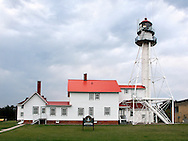 The Historic Lighthouse At Whitefish Point OnLake Superior, Michigan, USA : Low Res File - 8X10 To 11X14 Or Smaller, Larger If Viewed From A Distance