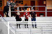 KALMAR, SWEDEN - APRIL 18: Fans of Ostersunds FK  during warmup ahead of the Allsvenskan match between Kalmar FF and Ostersunds FK at Guldfageln Arena on April 18, 2018 in Kalmar, Sweden. Photo by Jonas Gustafsson/Ombrello ***BETALBILD***