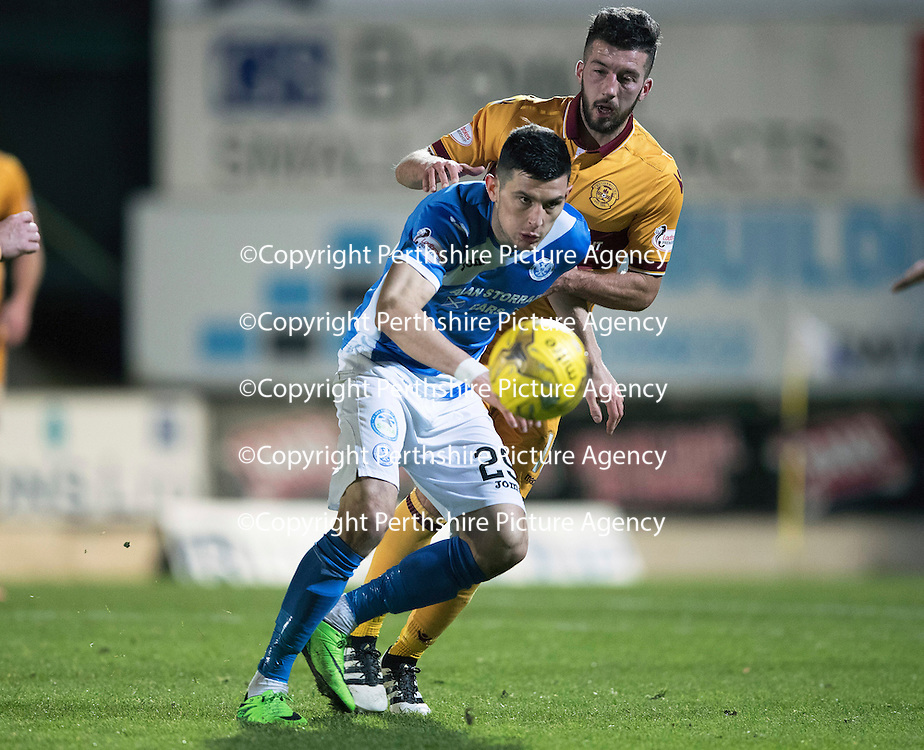 St Johnstone v Motherwell&Ouml;17.12.16     McDiarmid Park    SPFL<br /> Graham Cummins<br /> Picture by Graeme Hart.<br /> Copyright Perthshire Picture Agency<br /> Tel: 01738 623350  Mobile: 07990 594431