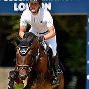 03.08.2018 The Longines Global Champions Tour Show jumping at The Royal Hospital Chelsea London UK Global Champions League of London for teams CS15 Competition in 2 phases Maurice Tebbel GER riding Chaccos Son