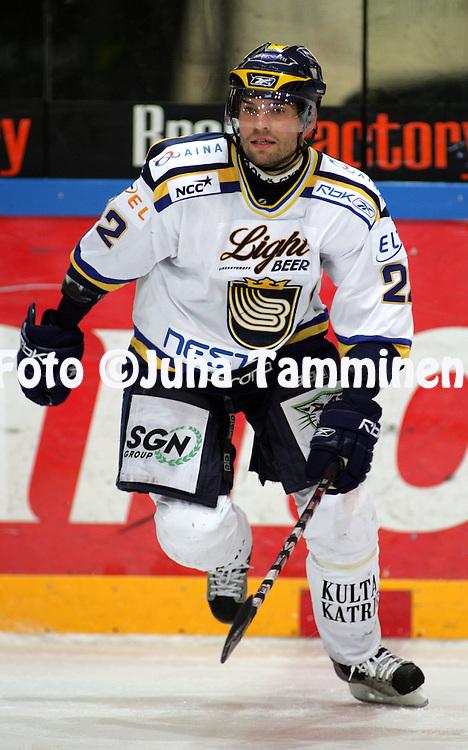 31.10.2008, Hakamets?n j??halli, Tampere..J??kiekon SM-liiga 2008-09..Ilves - Blues.Rami Alanko - Blues.©Juha Tamminen.....ARK:k