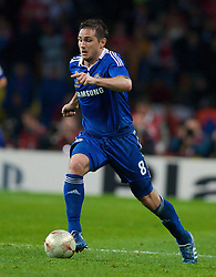 MOSCOW, RUSSIA - Wednesday, May 21, 2008: Chelsea's Frank Lampard during the UEFA Champions League Final against Manchester United at the Luzhniki Stadium. (Photo by David Rawcliffe/Propaganda)