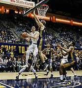 Nov 16 2016 - Berkeley U.S. CA - California guard Sam Singer #2  scored 11 points,5 assist and 1 steal drive to the baseline and scored during the NCAA Men's Basketball between UC Irvine Anteaters and the California Golden Bears 75-65 overtime win at Hass Pavilion Berkeley Calif. Thurman James / CSM