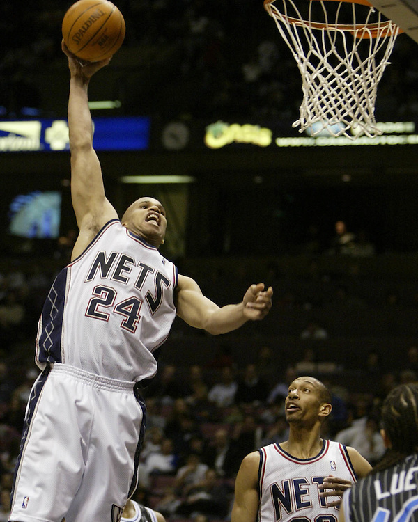 New Jersey Nets Richard Jefferson dunks against the Orlando Magic in East Rutherford, New Jersey Thursday, 8 April 2004. EPA/ANDREW GOMBERT