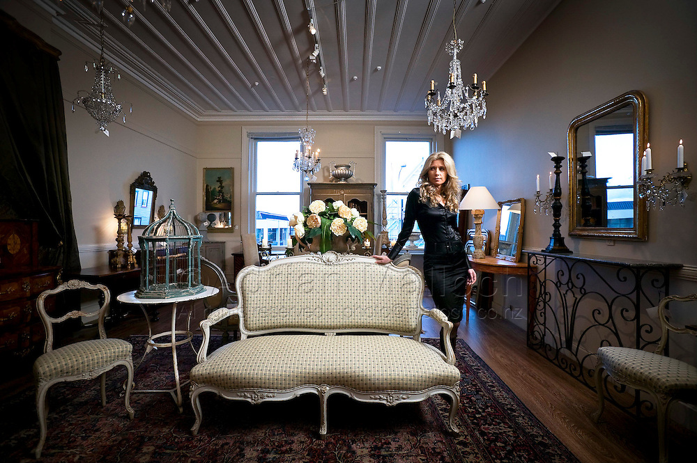 Chrystelle Baran in her Parnell store which specialises in imported French vintage and contemporary furniture and design.
