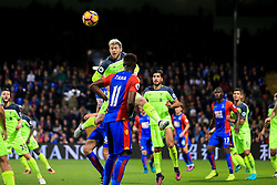 Alberto Moreno of Liverpool clears the ball - Mandatory by-line: Jason Brown/JMP - 29/10/2016 - FOOTBALL - Selhurst Park - London, England - Crystal Palace v Liverpool - Premier League