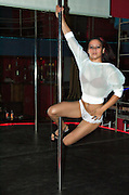 Israel, Tel Aviv, An erotic dancer performing on stage