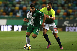 September 19, 2017 - Lisbon, Lisbon, Portugal - Sportings forward Acuna from Argentine (L) and Maritimo's defender Cristiano Gomes from Portugal (R) during the Portuguese Cup 2017/18 match between Sporting CP v CS Maritimo, at Alvalade Stadium in Lisbon on September 19, 2017. (Credit Image: © Dpi/NurPhoto via ZUMA Press)