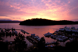 Washington: Seattle.  Dawn at Friday Harbor on San Juan Island..  Photo #: wawate105..Photo copyright Lee Foster, www.fostertravel.com, 510/549-2202, lee@fostertravel.com